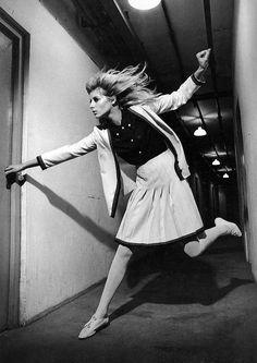 Jill Kennington in fashion by David Bond, photo by Helmut Newton, Queen, January 5, 1966