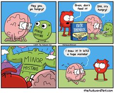 The Awkward Yeti ( Akward Yeti, The Awkward Yeti, Funny Quotes, Funny Memes, Hilarious, Heart And Brain Comic, Fun Comics, Comics Toons, Funny Cartoons