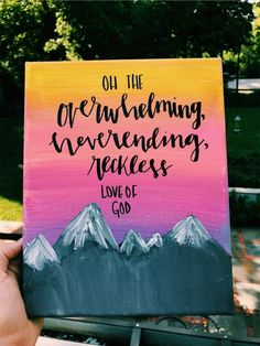 VSCO - charlotteheinz - Painting Ideas On Canvas Bible Verse Painting, Bible Verse Canvas, Canvas Painting Quotes, Simple Canvas Paintings, Easy Canvas Art, Small Canvas Art, Easy Canvas Painting, Mini Canvas Art, Cute Paintings