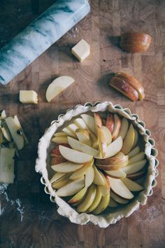 apple galette w/ gruyere vodka crust