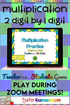 Digital game to multiply 2 digit numbers by 1 digit numbers. Great for distance learning and includes a Google Classroom version. Student Games, Math Games, Math Activities, Upper Elementary Resources, Elementary Teacher, Multiplication Facts Practice, Powerpoint Games, Educational Games For Kids, Primary Maths