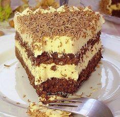 Torta s lješnjacima i karamelom ~ Recepti za svaki dan Kitchen Recipes, Baking Recipes, Cookie Recipes, Dessert Recipes, Desserts, Torte Recepti, Kolaci I Torte, Moka, Bajadera Recipe