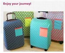 travel accessories Strong Elastic Luggage Protective Covers For 18 20 22 24 26 28 inch Dustproof Suitcase cute dot Cover(China (Mainland))