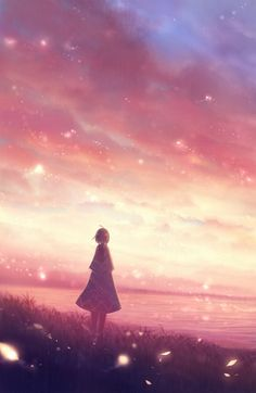 An image that focuses more on the scenery and landscape itself, rather than on the character. Zerochan has Scenery anime images, and many more in its gallery. Anime Girl Drawings, Art Drawings Sketches, Fantasy Art Landscapes, Landscape Art, Manga Art, Anime Art, Sky Anime, Night Background, Dream Art