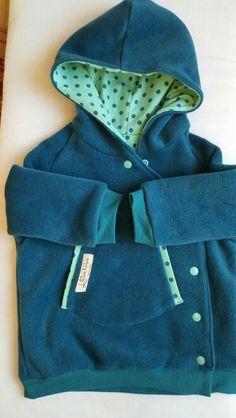 Fleece Jacke mit Druckknöpfen