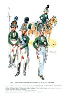 Guardia Imperiale Fanteria pesante Ufficiali 1804-1805