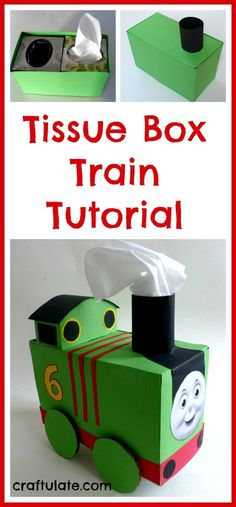 Tissue Box Train Tutorial from Craftulate