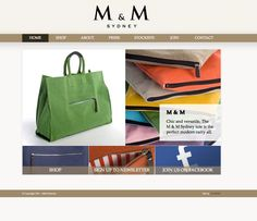 """www.mandmsydney.com    With a natural eye for design and a love of fashion, leading interior designer Marco Meneguzzi (whose work features in some of the best houses from Sydney to Melbourne to Los Angeles) has recently added another string to his bow with his first foray into fashion, introducing covetable canvas and dark-brown leather carry-all tote bags (for both men and women) under the new 2011 label called """"M & M Sydney"""".  Check out the online store!"""