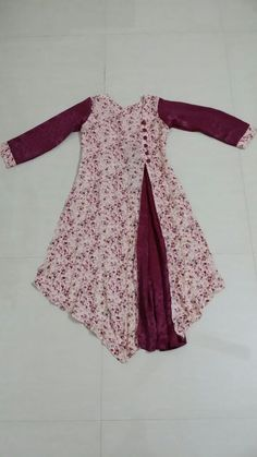 Indian Gowns Dresses, Pakistani Dresses, Girls Dresses, Frock Fashion, Women's Fashion Dresses, Kurti Patterns, Dress Patterns, Kids Gown, Children Dress