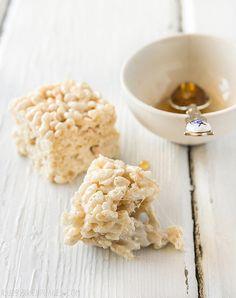 Salted Honey Rice Krispies Treat by raspberri cupcakes, via Flickr