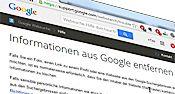 Google und das Recht auf Vergessen Internet, Google, Left Out