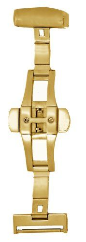 Hadley-Roma 16-mm IP Gold-Plated Push Button Deployment Clasp on http://watches.kerdeal.com/hadley-roma-16-mm-ip-gold-plated-push-button-deployment-clasp