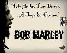 Todo hombre tiene derecho a elegir su destino. Bob Marley