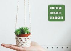 macetero colgante crochet ༺✿ƬⱤღ  http://www.pinterest.com/teretegui/✿༻