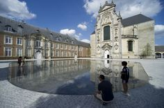 Binnenplein abdij, Averbode  Fotografie: Omgeving