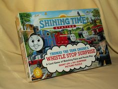 THOMAS TANK TRAIN GAME PUZZLE WHISTLE STOP SURPRISE NEW SHINING TIME STATION #HarmonyToy
