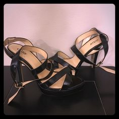Black strappy heels Black Diba heels. Women's size 8.5, gently worn. Make an offer. Diba Shoes Heels