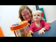 """""""The diagnosis doesn't define the kid. The kid defines their future."""" Watch Mary Free Bed Holland Pediatrics therapist Lisa Beard work with adorable patient Anna by going to the link in our bio. Did you know? To better serve West Michigan children and their families, we offer expanded hours and services at Mary Free Bed Holland Pediatrics.  #AskForMary #rehabilitation #pediatrics #pediatrictherapy #westmi #spinabifida"""