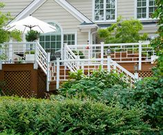 Polish the Edges: Add skirtboards or trellis material around the perimeter of your deck between its surface and the ground. The detail lends a finished look to the project and will allow the space below the deck to function as handy storage.