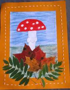 Syksyisen taulun kehykset etupistoin Autumn Crafts, Autumn Art, Nature Crafts, Arts And Crafts Projects, Crafts To Make, Crafts For Kids, Projects To Try, 2nd Grade Art, Fun Activities For Kids
