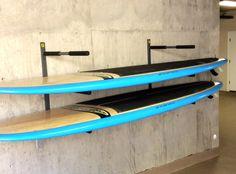 3 sup paddleboard wall storage rack