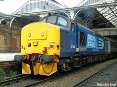 ' Class 37 425 stands in platform 5 at Preston station with the Preston to Barrow-in-Furness , Monday May 2017 , Photo by Gary Severn Electric Locomotive, Diesel Locomotive, Northern Rail, Barrow In Furness, Train Pictures, British Rail, Trains, Diesel Engine, North West