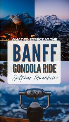 Want to experience Banff and discover the beautiful landscape of the Bow Valley? Take the Banff Gondola up to Sulphur Mountain and see what awaits you at the top!  #canada #banff #banffnationalpark #banffgondola #scenicchairlift #sunset #travel #alpenglow #photography #mountains