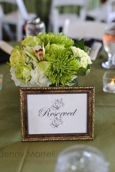 Reserved Wedding Sign for bridal party and family tables...