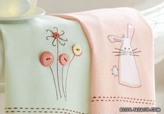 Tays Rock: beautiful stitching for Easter and other occasions Embroidery Applique, Cross Stitch Embroidery, Embroidery Patterns, Machine Embroidery, Quilting Projects, Sewing Projects, Hand Towels, Tea Towels, Guest Towels