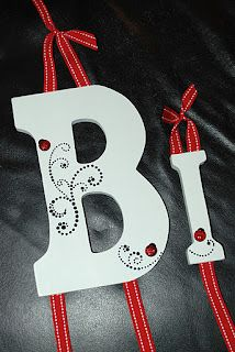 Could do this with the blank letters I have... Will help from some crafty friends!! (hint, hint)