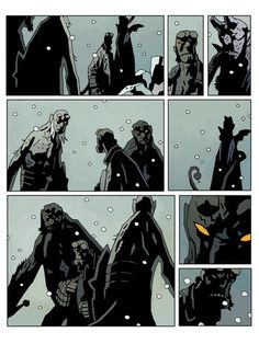 Hellboy in Hell - Episode 5 Grafic Novel, Mike Mignola Art, Comic Styles, Comic Page, Comic Book Artists, Episode 5, Dark Horse, Character Design Inspiration, Spider Man