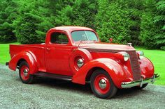 1937 Studebaker Coupe Express Pickup. Could pass for a Fire Chief vehicle.