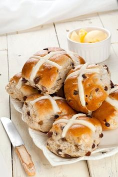 Such sweet tart goodness! This apricot, cherry, cranberry, and cardamom hot cross buns recipe is a twist on the traditional buns you see for Easter.