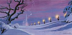 One of many Ralph Hulett Christmas cards he designed.. I have lots on my Christmas Past pinterest board...