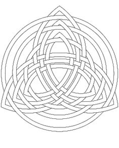 Don't Eat the Paste: Triple Trinity Knot for embroidery or coloring Más Celtic Patterns, Celtic Designs, Free Adult Coloring Pages, Coloring Book Pages, Paper Collage Art, Trinity Knot, Zentangle Patterns, Zentangles, Stained Glass Patterns