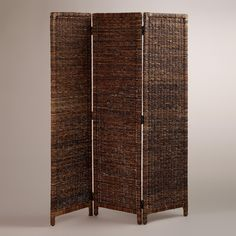 Our Woven Mika Screen is handcrafted from twisted madras, an exceptionally durable, naturally harvested abaca fiber found in the Philippines. This unique screen is a beautiful way to divide up a large space, section off a corner or simply add a little interest.