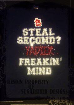 Steal Second Yadier Freakin Mind Tee