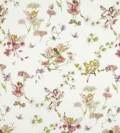 Blossom Flower Fairies Fabric by Jane Churchill | Jane Clayton