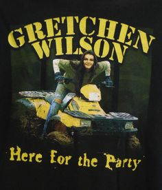 Gretchen Wilson Here for the Party Concert Tour Black T-Shirt S