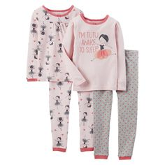 Just One You Made by Carter's� Infant Toddler Girls' 4-Piece Ballerina Pajama Set