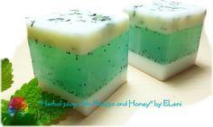 Σαπουνι Μελισσοχορτου με Μελι Herbal Melissa-Honey Soap by Eleni
