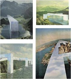 Superstudio, 1969 : le monument continu : un modèle architec Collage Architecture, Types Of Architecture, Architecture People, Architecture Drawings, Facade Architecture, Monuments, Genius Loci, Invisible Cities, Architectural Section