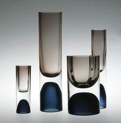 Tapio Wirkkala, Vases, 1954. Iittala Glasbruks, Finland. Neue Sammlung Munich. Via HVG-DGG