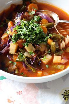 Spring Vegetable Soup - Island Menu
