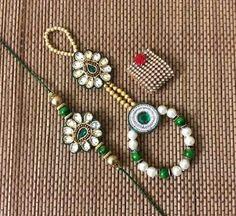 Pair Rakhi For bhaiya and bhabhi Diy Home Crafts, Arts And Crafts, Quilling Rakhi, Diy Tassel Earrings, Rakhi Online, Handmade Rakhi, Rakhi Design, Silk Thread Bangles, Mehndi Images