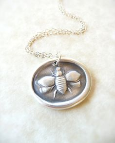 Bee wax seal necklace pendant jewelry made from by DreamofaDream