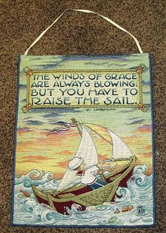 The Winds of Grace Tapestry Bannerette Wall Hanging ~ Mary Engelbreit