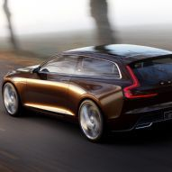 Volvo Concept Estate Rear Side View In Motion