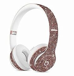 I would never spend this kind of money for headphones, BUT these are fuckin' blingy and beautiful!!!  ✨Melanie Misfit✨   Wireless Studio Beats by Dre Custom Headphones Rose Gold Swarovski Crystals