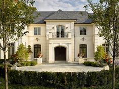 Attractive Front Door And Balcony Stucco Design French Country House Plans With Porte  Cochere French Country French Country Home Stucco